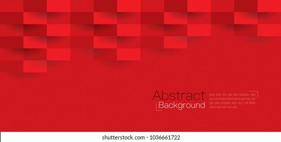 Red abstract texture. Vector background 3d paper art style can be used in cover design, book design, poster, flyer, cd cover, website backgrounds or advertising.