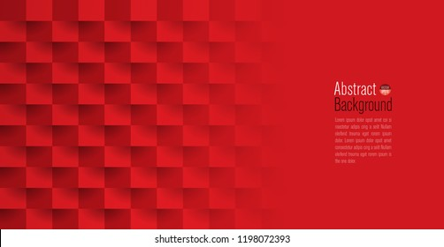 Red abstract texture. Vector background 3d paper art style can be used in cover design, book design, poster, cd cover, website backgrounds or advertising.