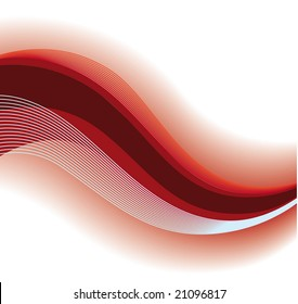 Red abstract wave