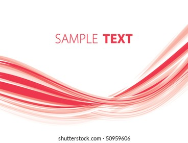 Red abstract wave. Vector