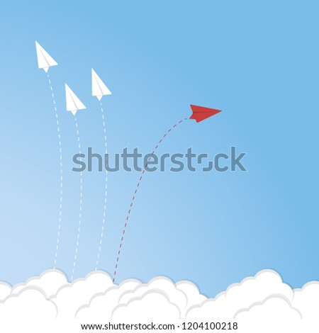 red-airplane-changing-direction-white-45