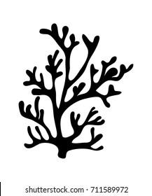 red algae silhouette vector symbol icon design. Beautiful illustration isolated on white background