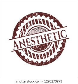 Red Anesthetic distress grunge stamp