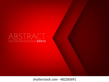 Red angle arrow overlap vector background on space for text and message artwork design