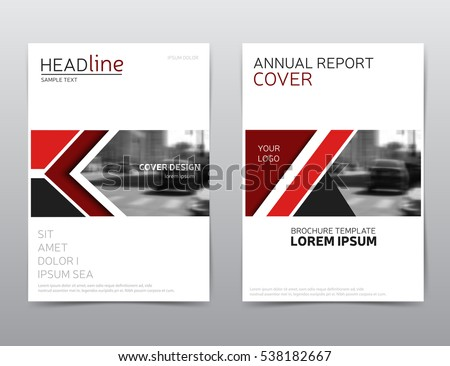red annual report cover vector corporate のベクター画像素材
