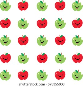 Red apple and green apple background texture, vector illustration design.