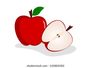 Red apple illustration vector
