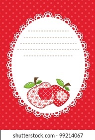 red apple patchwork background