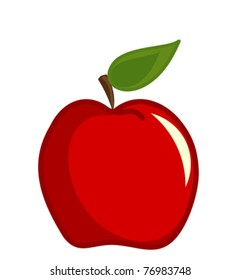 Red apple vector illustration