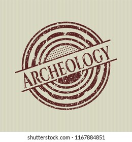 Red Archeology distress rubber grunge texture stamp