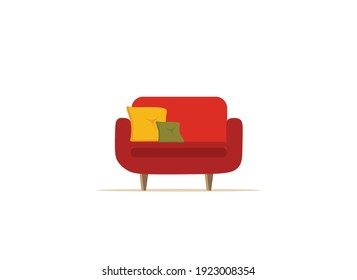 red armchair, vector illustration on a white background