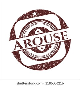 Red Arouse distressed rubber seal