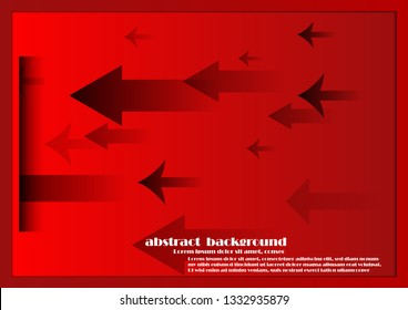 Red arrow abstract background
