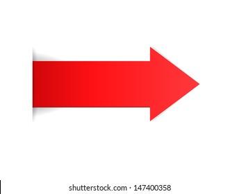 The red arrow with hidden edge effect / The red arrow / The arrow