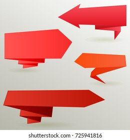 Red arrow set . design for infographics, diagram, graph, presentation and chart. Business concept. Modern options banner