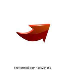 Red arrow. Vector