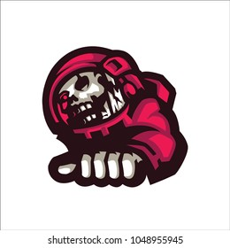 Red Astronot E Sport Logo