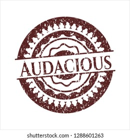 Red Audacious distressed grunge stamp