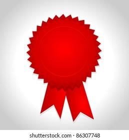 red award ribbon badge
