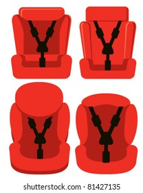 Red baby car seats