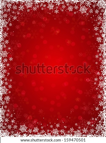 red-background-frame-snowflakes-vector-4