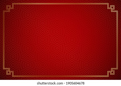 red background and gold window frames for your text. happy Chinese New Year