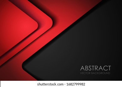 Red background overlap dimension grey vector illustration message board for text and message design modern website