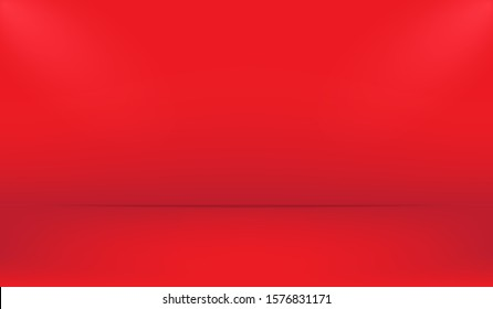 Red background for studio with lightning and shadow. Background for you product shooting