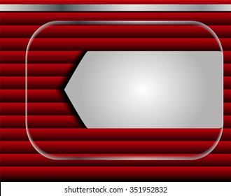 Red background. Vector design