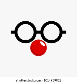 Red ball vector collection, red nose vector collection isolated on white background