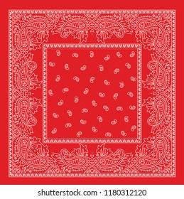 red bandanna pattern