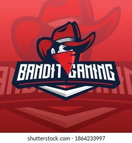 red bandit e-sport logo concept