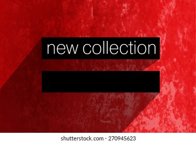 Red banner new collection vector
