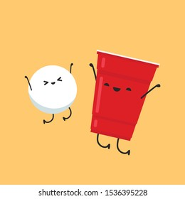 red beer cup character design. wallpaper. ball character.