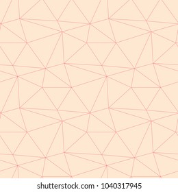 Red and beige geometric ornament. Seamless pattern for web, textile and wallpapers