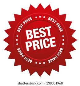 Red best price star button