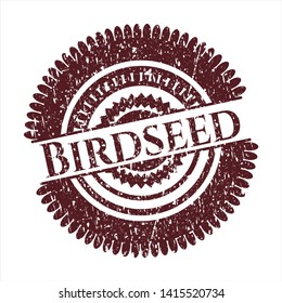 Red Birdseed distress rubber grunge seal