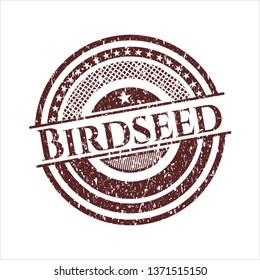 Red Birdseed grunge stamp
