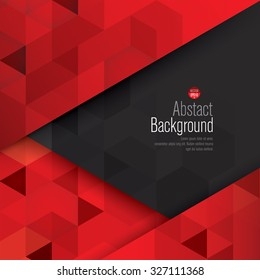 Red and black abstract background vector. Can be used in cover design, book design, website background, CD cover, advertising.