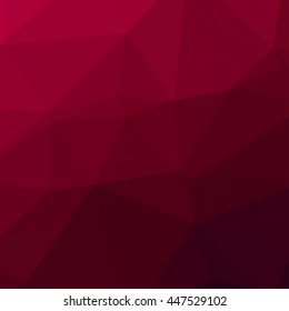 Red black abstract geometric rumpled triangular low poly style vector illustration graphic background.Creative Business design