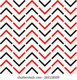 Red and black chevron pattern
