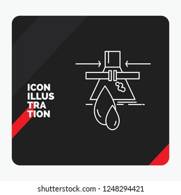 Red and Black Creative presentation Background for Chemical, Leak, Detection, Factory, pollution Line Icon