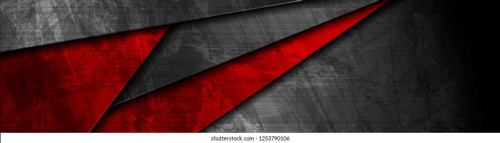 Red and black grunge material banner design. Vector corporate background