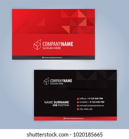 Red and Black modern business card template, Illustration Vector 10