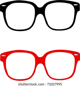 Red and Black Nerd glasses