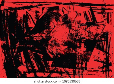 Red and black noise punk print abstract background