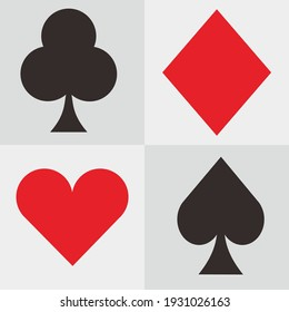 red and black poker card vector design
