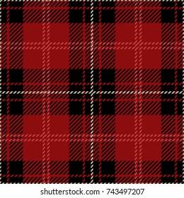 Red and Black Scottish Woven Tartan Plaid Seamless Pattern