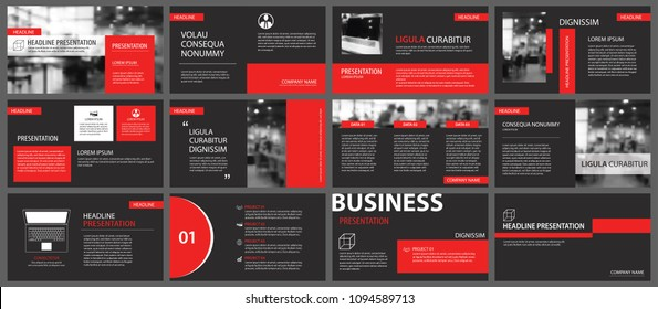 Powerpoint Template Red Images Stock Photos Vectors