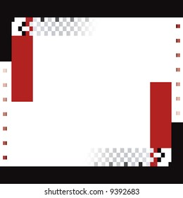 red and black squares and rectangle vector background